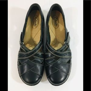 Clarks Bendable Women's Black Leather Size 9.5N